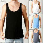 Mens Premium Singlets Loose Fit Tanks Casual Plain Blank BodyBuilding Gym Style