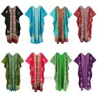 Women Batik Cotton Caftan Kaftan Long Plus Size Dress 26 28 30 1X 2X