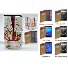 For Xperia XZ XA XP M4 Aqua Z5 Series Z3 - Spill Coffee Print Wallet Phone Case