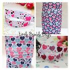 FOE FOLD OVER ELASTIC - HEARTS - PRINTS BY THE METRE