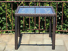 """Patio Outdoor Garden Wicker Dining Square 31"""" Table w/ Glass"""