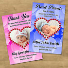1-104 Personalised New Born Baby Announcement Thank You Photo MAGNETS (NBM6)