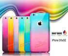 Luxury 360° PROTECTION Gradient Case Cover + GLASS For Apple iPhone 5/5s-SE