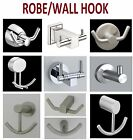 Robe Hook Wall Mounted Bath Hanger Solid Stainless Steel Brushed Nickel / Glossy