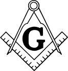 Freemason Square and Compass Vinyl Car Window Laptop Decal Sticker