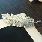 1pc Fashion Metal Leaf Shape Hair Clip Crystal Hair Accessories for Women Girls