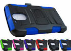 for Motorola Moto G4 Plus / G4 Armor Hybrid Case & Belt Clip Holster+PryTool