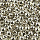 2mm 3mm 4mm 5mm 6mm Wholesale Lot Silver Metal Round Spacer Beads Jewelry Craft