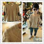 1319 Boutique Vintage Cable Knit Cotton Sweater W/ Faux Leather Elbow Patches