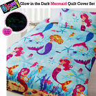 Glow In The Dark Mermaid Quilt Cover Set by Happy Kids - SINGLE DOUBLE QUEEN