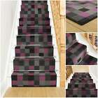 Gridlock Purple - Stair Carpet Runner For Staircase Modern Quality Cheap Wilton