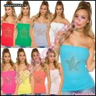Sexy Women's Bandeau Top Ladies Casual Summer Party Top One Size 6,8,10,12 UK