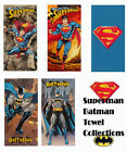 "DC Comics Superman/Batman Beach/Bath Towel Collections 30""x60"""