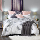 Leopold Grey Feather Quilt Doona Duvet Cover Set OR Accessories by Bianca