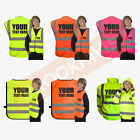 FUN KIDS HI VIZ VIS FANCY DRESS JOKE CUSTOM WAISTCOAT VEST TABARD JACKET CHILD