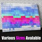 AB693 Modern Blocks Blue Pink Green Canvas Wall Art Abstract Picture Print X