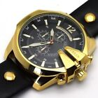 CURREN Men Luxury Stainless Steel Quartz Leather Sport Army Military Wrist Watch image