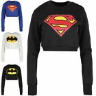 Donna Batman Superman Felpe Donna A Tre Quarti Top Supereroe Pullover In Pile