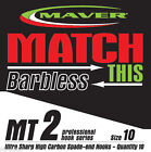Maver Match MT2 Barbless Hooks   Coarse / Carp Fishing 10 per pack