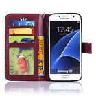 Magnetic Pattern Leather Folio Wallet Card Case Cover For Samsung Galaxy Phones