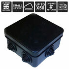 1-50 CCTV Weather Proof Junction Box IP55 Terminal Box IP BOX in Black Outdoor