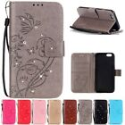Diamond Cards Wallet Leather Case Cover For iPhone 7 5G 5C 6 6S Plus Touch5/6 SE