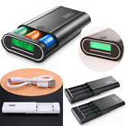 Dual 2 USB 5V Moible Power Bank 4x 18650 Battery Charger Case Box For Cell Phone
