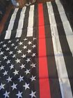 Thin RED Line USA striped FIREFIGHTER EMS 3x5 Flag USA SELLER free shipping