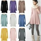 Womens Soft Stylish Long Sleeve Casual Sweet Mini Jumper Tops Dress