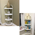 4 TIER ADJUSTABLE CORNER SHOWER BATHROOM SHELF ORGANISER CADDY WHITE