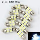 5050 31mm 4SMD Car RV Interior Dome Festoon White LED Light Bulbs Lamp DC12V