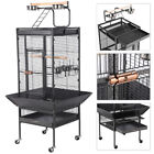 """61"""" Large Parrot Bird Cage Play Top Pet Supplies w/Perch Stand Two Doors Iron фото"""