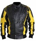 Celebriat X Batman Leather Black & Yellow Jacket