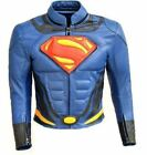 Celebrita X Super Blue Leather Man Motorcycle Jacket