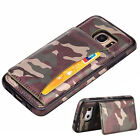 Shockproof Leather Card Pocket Stand Wallet Case Cover for Samsung Galacy S7Edge
