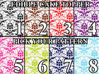 DAMASK PATTERN COLORS Edible image Cake toppers cupcakes, strips and more...