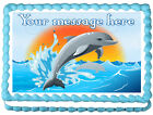 DOLPHIN Edible image cake topper decoration