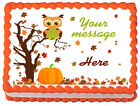 FALL OWL Autum Owl Baby shower Image Edible cake topper