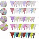 80ft 120160 ft Handmade Fabric Bunting vintage floral Shabby Chic Wedding Party