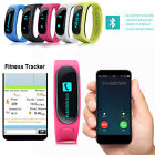 Bluetooth Smart Bracelet Fitness Wristband Pedometer Handsfree for iOS Android