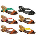 Breckelle's CE08 Women's Comfort Buckle Strap Gladiator Flat Sandals New In Box