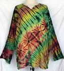 Unisex Gypsy Tie Dye Long Sleeve Cotton TOP Pullover Shirt Sz 3XL Plus 3X LS4336