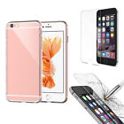Hybrid Tempered Glass Screen Protector + TPU Case Cover For iPhone 7 6 6S Plus