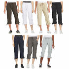 NWT Calvin Klein White Label Performance 100% Cotton Pull-on Cargo Capri Pants