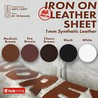 Iron On Faux Leather Sheet Soft Vinyl Appliqué Patch Badge DIY Repair Material
