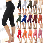 Kyпить WOMEN STRETCH COTTON CAPRI LEGGINGS YOGA PANTS SLIM FIT COLOR GYM FITNESS на еВаy.соm
