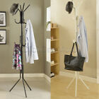 11 Hook Hat Coat Clothes Rack Umbrella Stand Tree Style Steel Hanger White Black