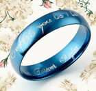 Men Women Lord of the Rings Blue Promise Couple Ring MKUS081 ZA2
