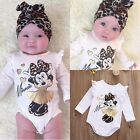 Mickey Mouse Toddler Baby Girl Bodysuit Romper Jumpsuit Outfits Set Clothes