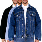 New Mens Aztec Vintage Denim Jacket Classic Western Buttoned All Big King Size